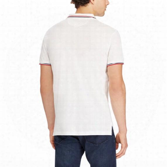 Feather Mesh Polo Shirt - Mens
