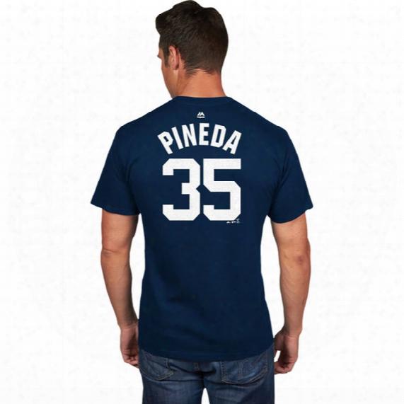 Mlb New York Yankees Michael Pineda Official Name & Number T-shirt - Mens