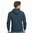 FULL ZIP HOODED POLO FLEECE - MENS