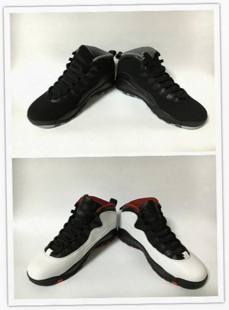 10 Retro Double N Ickel Sz 11.5 White Black True Red Air Retro 10s X Mens Basketball Shoes Onnline Whoelesale Brand