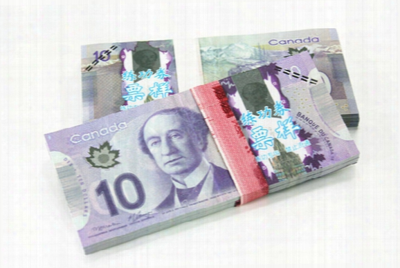 100pcs Canada Cad C$10 Prop Money Bank Staff Training Learning Banknotes Movie Props Poker Chips Home Decoration Arts Collectible