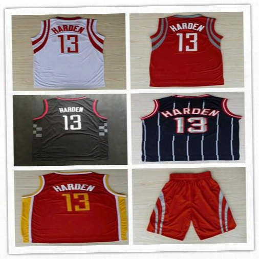 13 James Harden Basketball Jerseys Stitched Red White Black Yellow Arizona State College James Harden Jersey Throwback Cheap