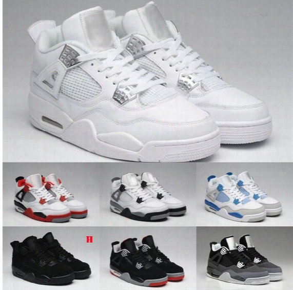 13colors 100% High Quality Men's 2017 New Shoe Man Retro 4 Basketball Shoes 4 Bred 2012 Release Countdown Pack Athletic Shoes Size 7-13