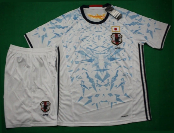 16 17 Japan Away White Soccer Uniforms Short Sleeve Football Shirts Designer Sport Jersey Athletic Thailand Quality Soccer Kit Free Shipping