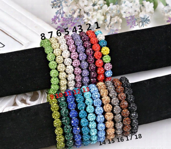 20 Beads, Shamballa Crystal Beads Bracelets Macrame Disco Ball Bracelets Jewelry Armband Cheap China Fashion Jewelry Wrap Charm Bracelet