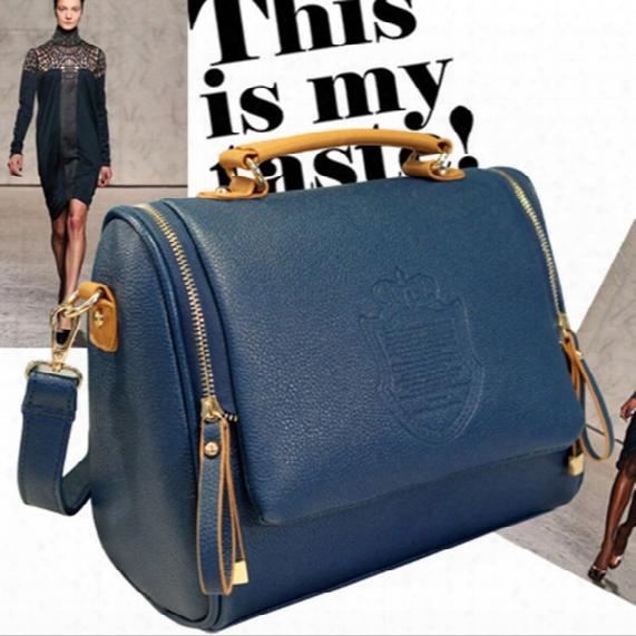 2015 New Arrival Boston Bags Designer Pu Leather Women Bags Casual Ladies Shoulder Messenger Bags Handbags Zipper Totes.
