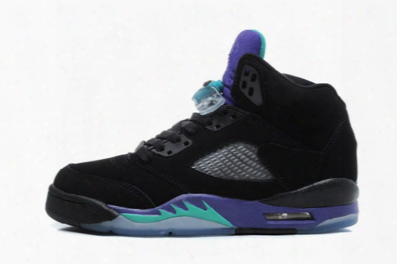 2016 Air Retro 5 Black Blue Grape Men And Women Basketball Shoes Mens Sports Sneakers High Quality Fashion Style Free Shipping Size 36-46