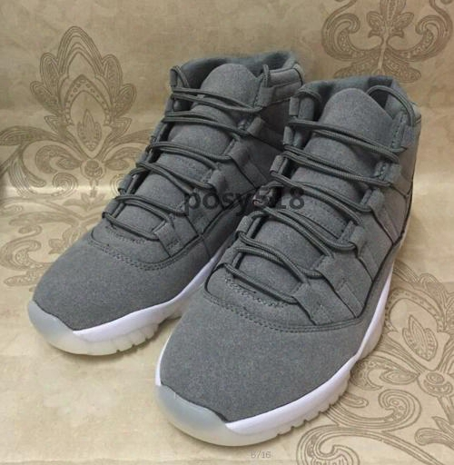 2016 Hot Retro 11 Prm Cool Grey Suede White 11s Mens Gs Basketball Shoes Men Women Heiress Velvet Red Gold Sneakers For Sale