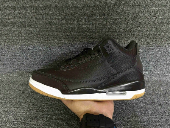 2016 New Air Retro 3 Brown Gum Retro 3s Men Basketball Shoes Mens Sports Black Brown White Low Boots Size 8-13