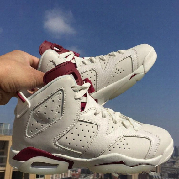2016 New Band Maroon Retro 6 Basketball Shoes,free Shipping Athletic Mens Sport Maroon Retro 6 Shoes