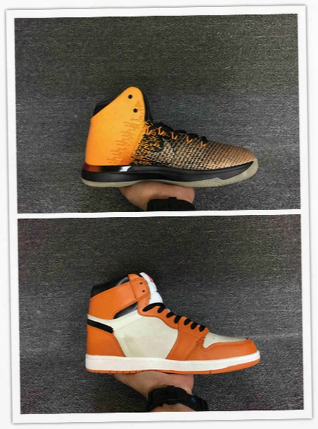 2016 New Discount Air Retro 31 Xxxi Shattered Backboard 1 Og High Orange Yellow Men Basketball Shoes Sports Sneakers Wholesale Size 40-47