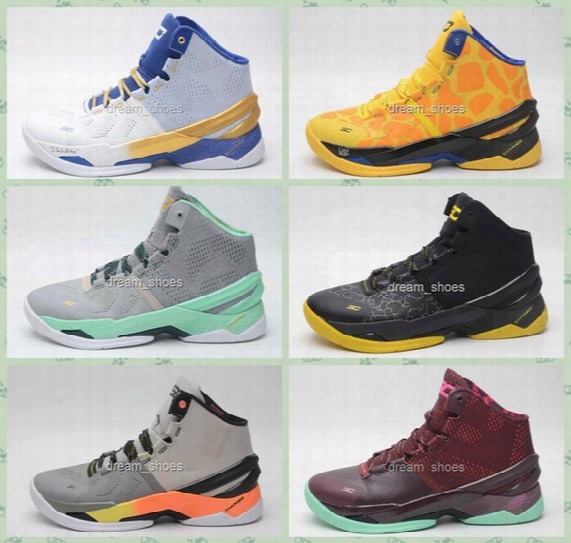 2016 Newest Curry Shoes Mens Stephen Curry Basketball Shoes High Qualiry Curry 2 Mvp Shoes Trainer Sneakers Size 40-46