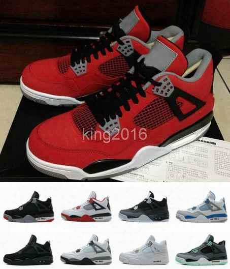 2016 Retro 4 Iv Mens Basketball Shoes Black Red High Quality Men Outdoor Retros 4s Sport Shoes Boots Athletic Trainers Sneakers Size 8-13