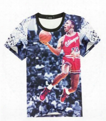 2016 Summer Fashion Clothing Men's Basketball T Shirt Funny Printed T-shirt With Good Quality Tops