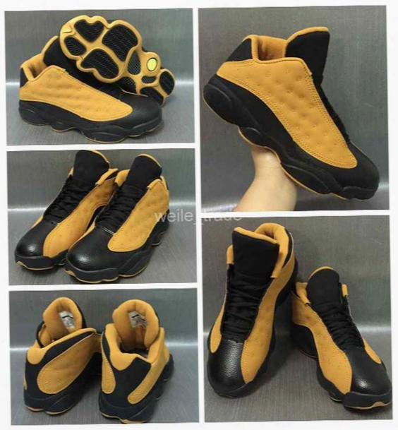 2017 Air Retro 13 Low Men Basketball Shoes Chutney Wheat Pure Money White Cats Blue Mens Sneakers Retros 13s Basket Ball Sneakers 8-13