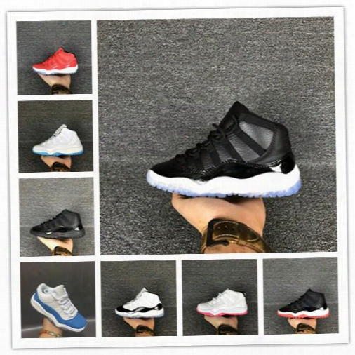 2017 Children Shoes Basketball Shoes Wholesale New Air Retro 11 Space Jam 72-10 Cny 11s Sneakers Kids Sports Running Girl Traniers 28-35