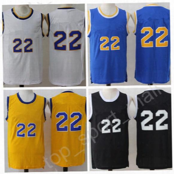 2017 Crenshaw 22 Quincy Mccall Jersey Men Black Yellow Blue White Mccall Movie Basketball Jerseys Flint Tropics Semi Pro With Player Name