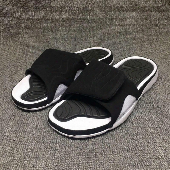 2017 Hot Summer Retro 4 Slippers Hydro Iv Airs 4s Sandals Men's Outdoor Casual Basketball Sport Slippers Flip Flops Beach Sandals Scuffs Kid
