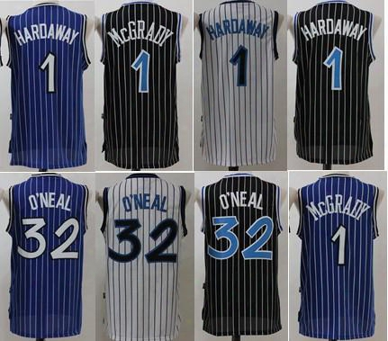 2017 Mcgrady Mens Throwback 32 Retro Shaquille O'neal Shaq Jersey Stitched 1 Tracy Mcgrady 1 Penny Hardaway Jersey Stitched Shirts