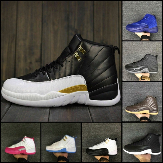 2017 New Air Retro 12 Xii Basketball Shoes Ovo White Flu Game Gs Barons Gym Red Wolf Grey Taxi Playoffs French Blue Sneaker