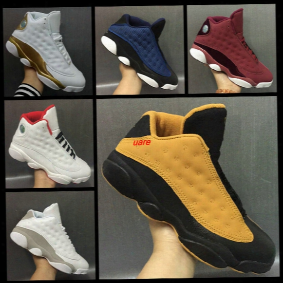 2017 New Air Retro 13 Heiress Chutney Dmp Defining Moments Pack Mens Basketball Shoes Sneakers Cheap White Gold Cat Basket Ball Sports Shoes