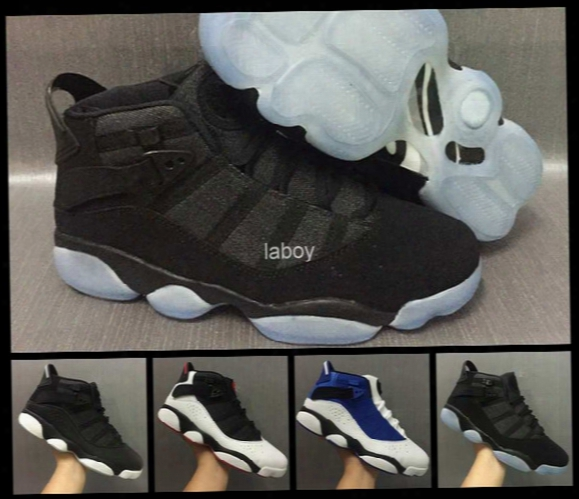 2017 New Air Retro 6 Vi Rings Six Alternate Men Basketball Shoes Mens Trainers Retros 6s Sport Shoes Black Grey Basket Ball Sneakers