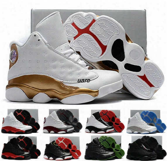 2017 New Children Athletic Retro 13 Xiii 13s Bred Dmp Youth Kids Basketball Shoes Sneakers Boys Girls Kid Sports Shoes 28-35 Free Ship