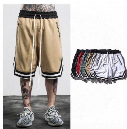 2017 New European And American Knee Sports Basketball Pants Fog Shorts Men Tide Brand Pants Loose Loose Personality Personalized Street Pant