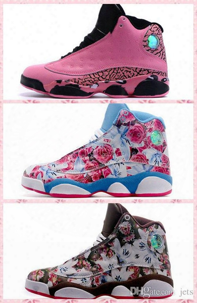 2017 New Pink Retro 13 Xiii Basketball Shoes For Women,high Quality Womens Air Retros 13s Athletic Sport Sneakers Size Eur 36-40 Freeshippin