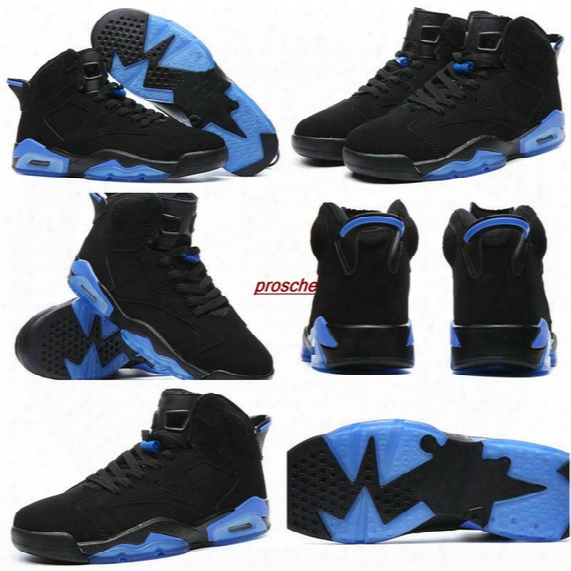 2017 New Retro 6 Men Basketball Shoes Sneakers Black Blue Outdoor Air Athletic 6 Retros 6s Sports Basket Ball Shoes Size 41-47