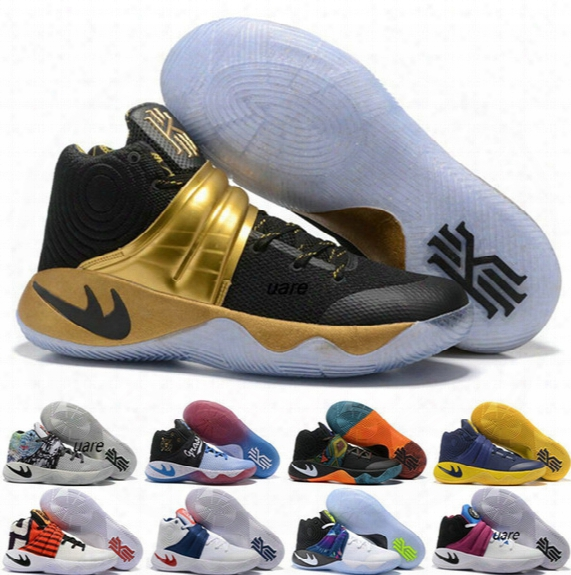 2017 New Style Kyrie Irving 2 3 Hot Punch Team Red Christmas Mens Basketball Shoes Sneakers Top Quality Kyrie 2 Air Cushion Run Sport Shoes