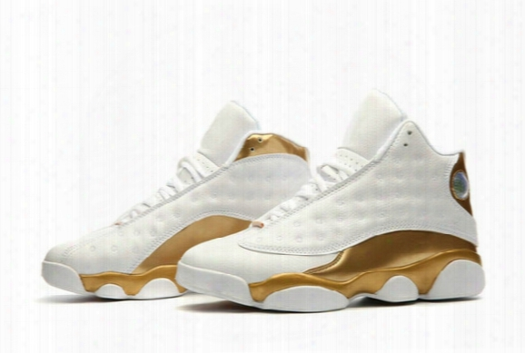 2017 New Xiii 13 Retro Metallic Gold White Men And Women Basketball Shoes High Quality Air Retro 13 13s Youth Sports Athletics Sneakers