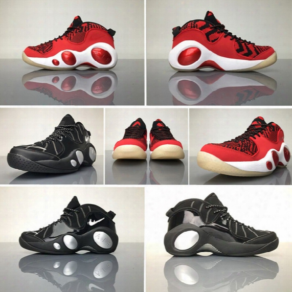 2017 Newest Air Zoom Flight 95 Se Mens Basketball Shoes Black Red White Big Eyes Sports Boots High Quality Outdoor Athletic Sneakers 40-45