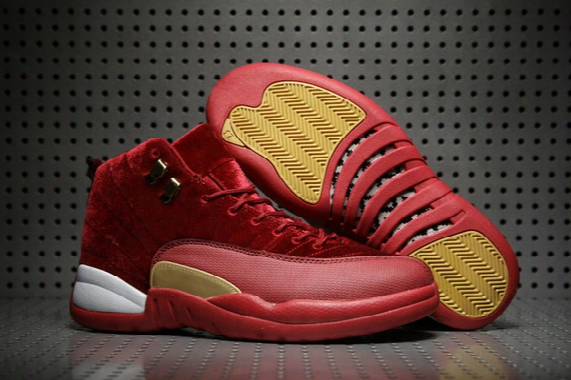 2017 Retro 12 Heiress Chinese New Year Red Suede Mens Basketball Shoes Retro Sneakers Sport Shoes Cheap Cny 12s Trainers For Men Us8-13