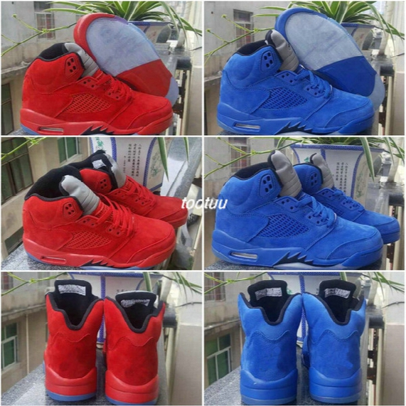 2017 Retro 5 V Royal Blue Raging Bull Oreo Space Jam Metallic Red Suede Ice & Fire Basketball Shoes Women Men Retros 5s Basket Ball Sneakers