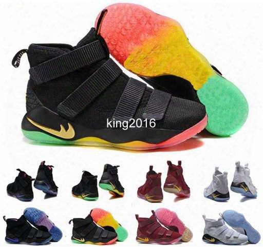 2017 Special Limited Edition James Soldiers 11 Xi Mens Basketball Shoes Men Chameleon Soldier 11s Lbj Sports Sneakers Basket Ball Shoe 40-46
