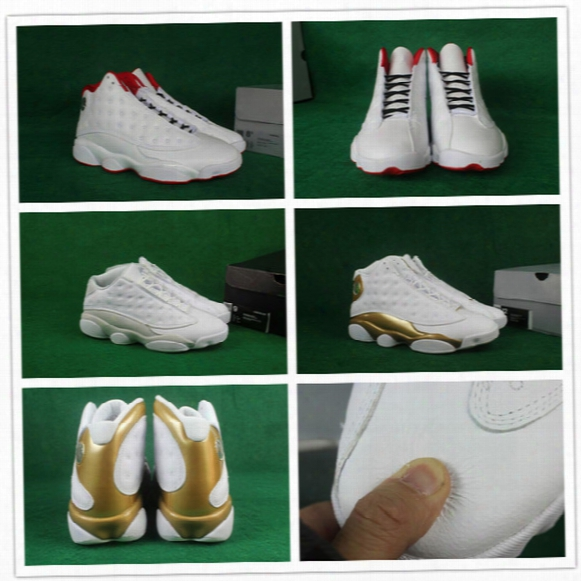 2017 Super Aaa+ Quality Mens Retro 13 Basketball Shoes History Of Flights/dmp/pure Money For Airs 13s Gold Sports Sneakers 8-13 With Box