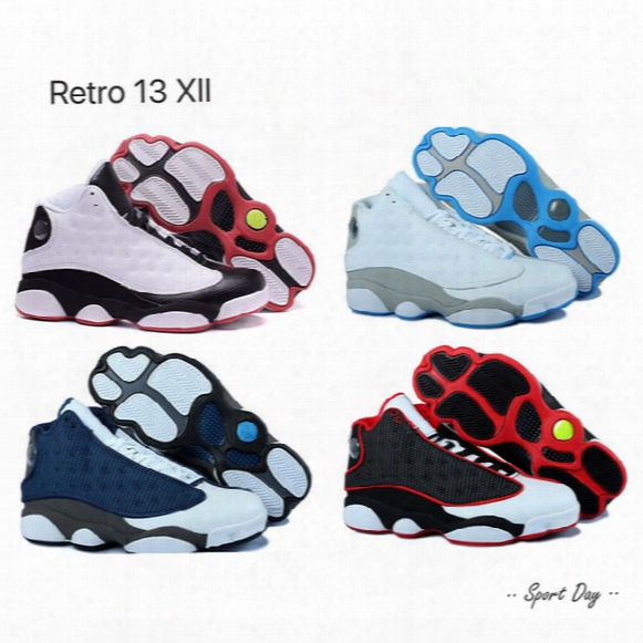 2017 Top Quatily Air Retro 13 Xiii Men Basketball Shoes Bred Grey Toe Holofram Barons Fkints Athletics Sport Sneaker Boost Casual Shoes