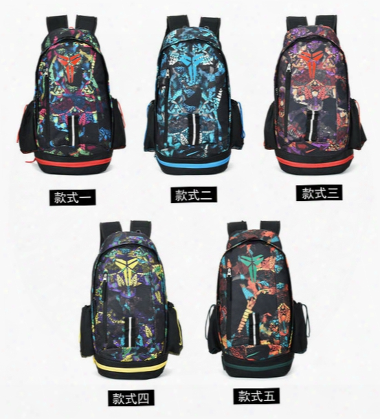 2017 Wholesale Fashion Style Kobe Men Backpacks Basketball Bag Sport School Bag For Teenager Outdoor Backpack Marque Mochila Free Shipping