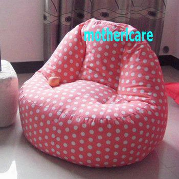 Adults Computer Bean Bag Chair, High Back Support Beanbag Lounge - Pink Polka