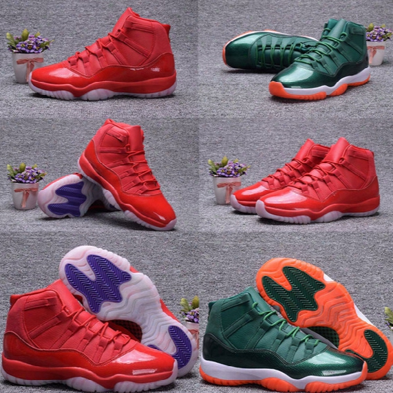 Air Retro 11 Man Basketball Shoes 2017 New Design Sport Shoes Sneaker Low Baron University Blue Gym Red Velvet Heiress Wheat Size8-13