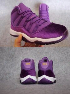 Air Retro 11 Xi Purple Velvet Heiress Men Womens Basketball Shoes 11s Aa High Quality Size 5.5 13 Wholesale Sneakers Free Shipping
