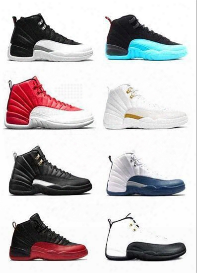 Air Retro 12 Wool Xii Basketball Shoes Ovo White Flu Game Wolf Grey Gym Red Taxi Gamma French Blue Suede Sneaker Sports Shoes