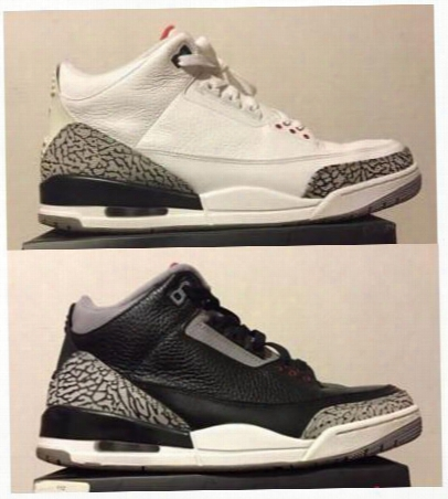 Air Retro 3 Wholesale White Cement Black Cement Reflective 3m Bright Crimson Infrared Powder Men Size Basketball Shoes Blue Gs Wolf Grey