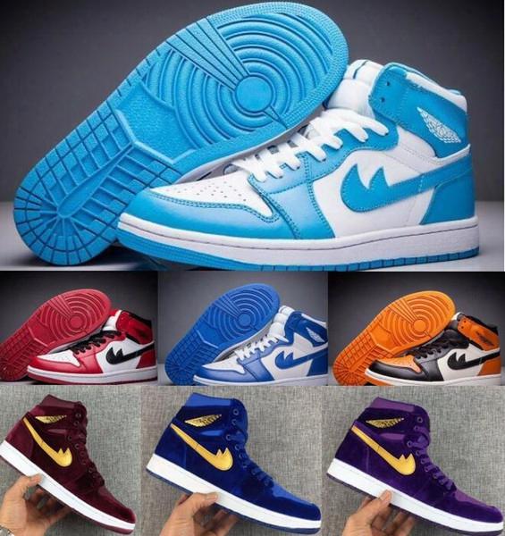 Basketball Shoes Air Retro 1 Men Women Purple Velvet Heiress Mens Womens Femme Homme China Sport Retros 1s Shoes Replica Sneakers Sale
