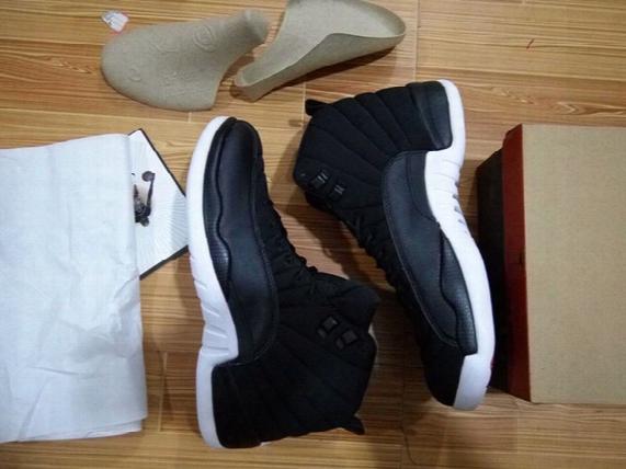 Black Nylon Air Retro 11s Man Basketball Shoes With Originals Box Size Eur 41-47 Retro 12s Free Shipping Wholesale