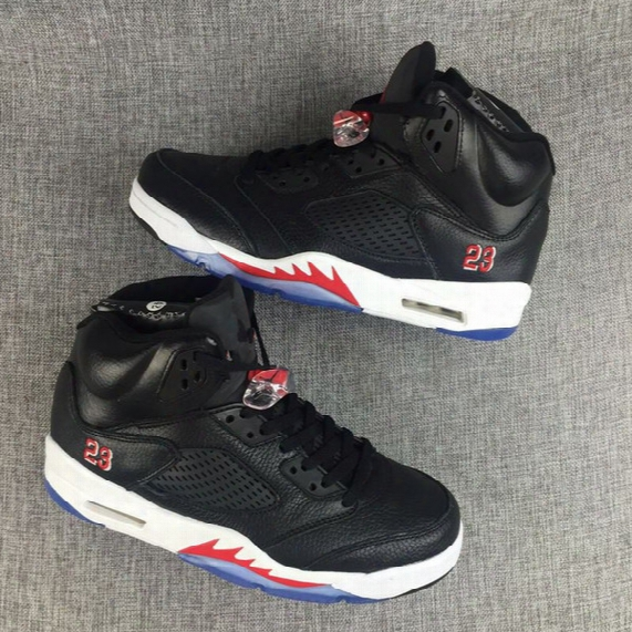Brand Retro 5 Black White Red Online Mens Basketball Shoes V 5s Boy Sneakers Trainers Free Shipping Sale Cool Quality