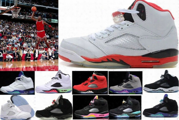 Cheap Aaa Retro 5 V 5s Basketball Shoes Men Women Sneakers Authentic Oreo Retro 5v Basketball Shoes Homme Zapatos 5s Air Sports Shoes 6-7-13