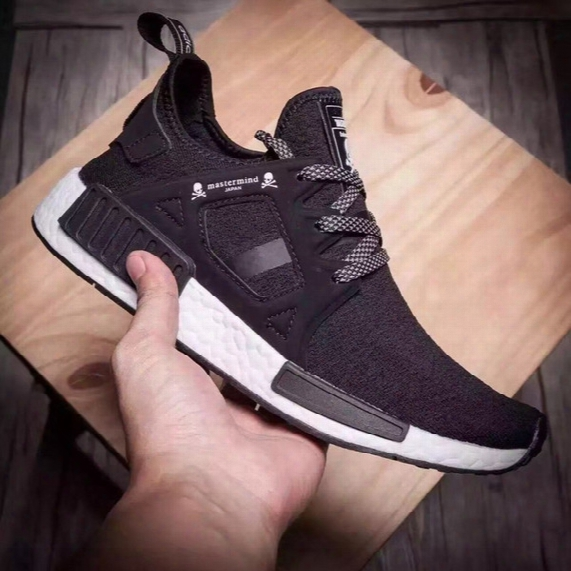 Cheap Nmd Boost Xr1 X Mastermind Black White Skull Men Women Running Shoes For Original Quality Boost Fashion Sneakers Basketball Shoes