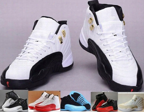 Cheap Top Quality Retro 12 Xii Man Basketball Shoes Men Women 12s Ovo White Taxi Flu Game French Blue Gamma Blue Playoff Sneakers Boots 5-11